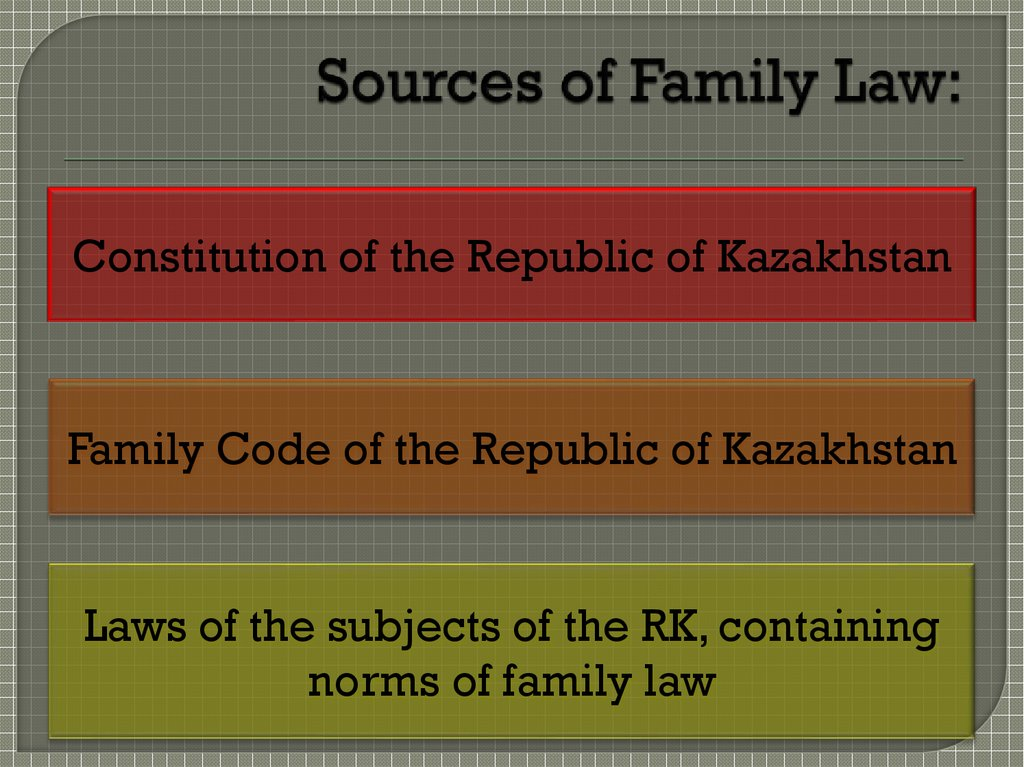 Sources of Family Law: