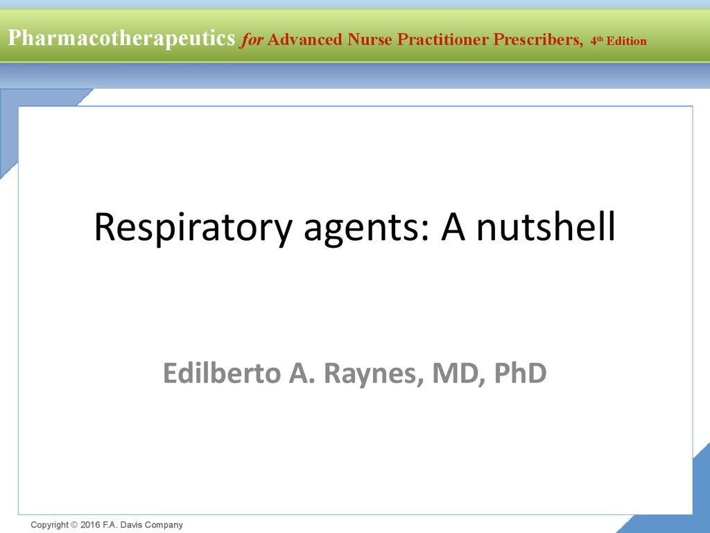 Respiratory agents: A nutshell