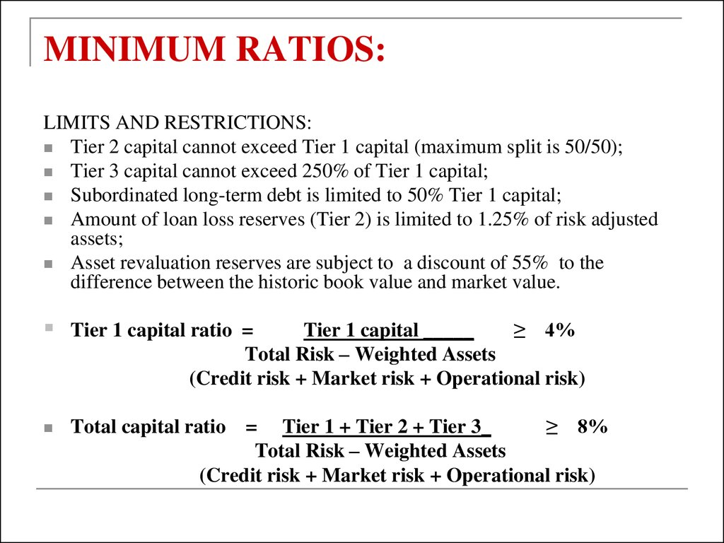 True Market Value >> Capital adequacy: Basel 2. Financial institutions ...