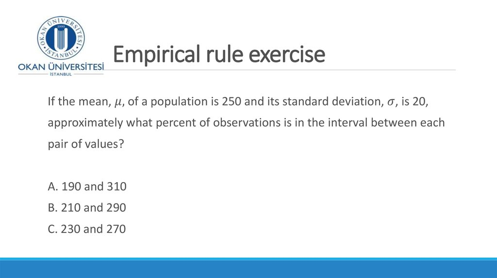 Empirical rule exercise