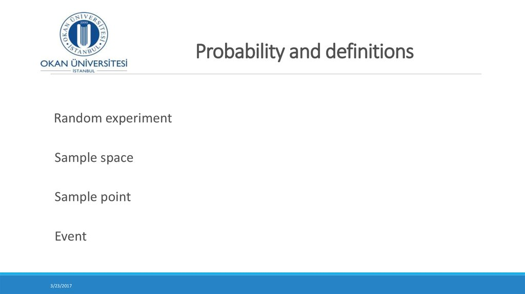 Probability and definitions