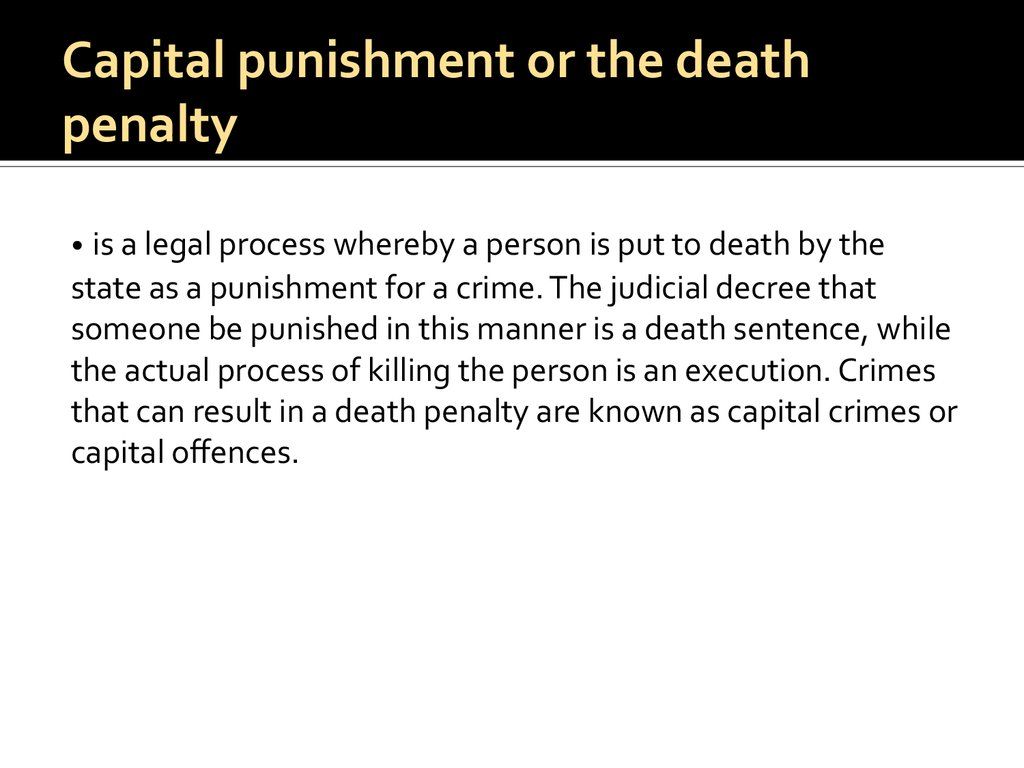 addressing the issues of capital punishment in the us Traditional church teaching on capital punishment is addressing the subject of capital punishment issues with the death-penalty in the us have.