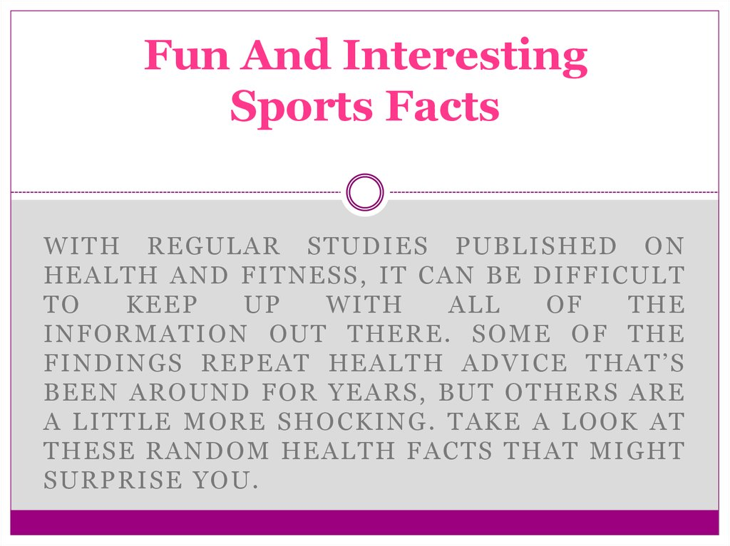 Fun And Interesting Sports Facts