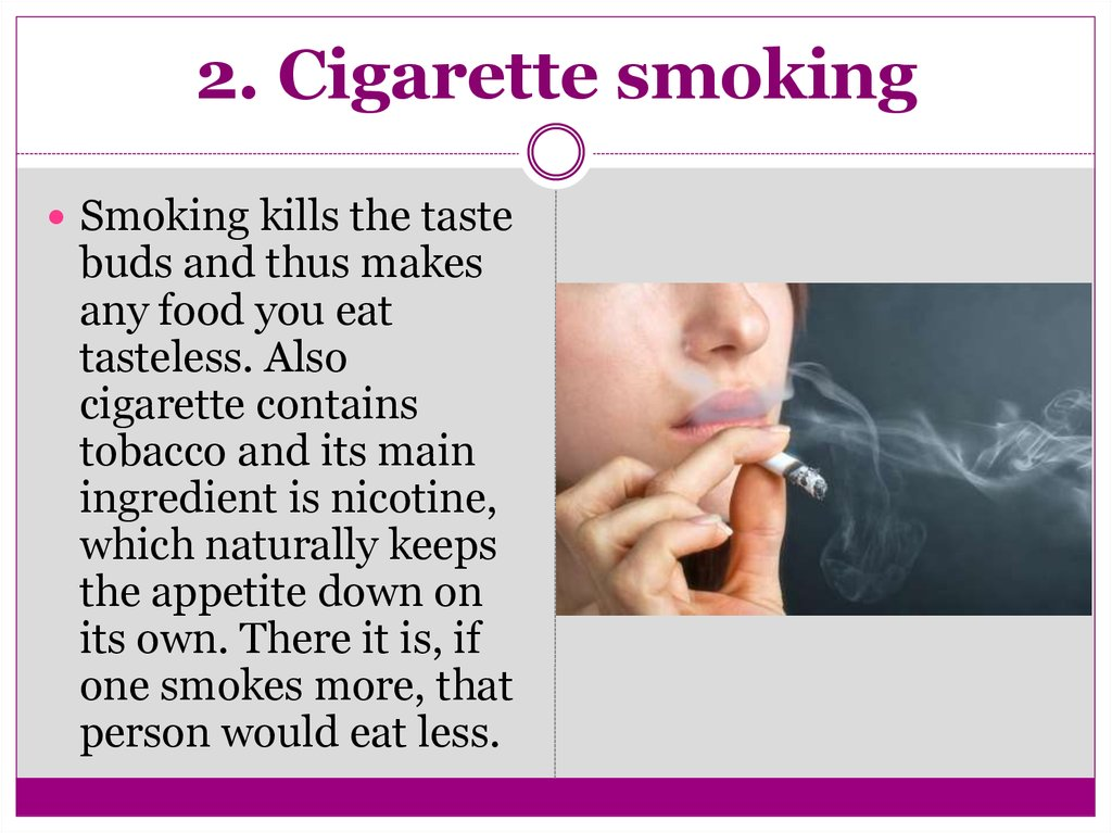 2. Cigarette smoking