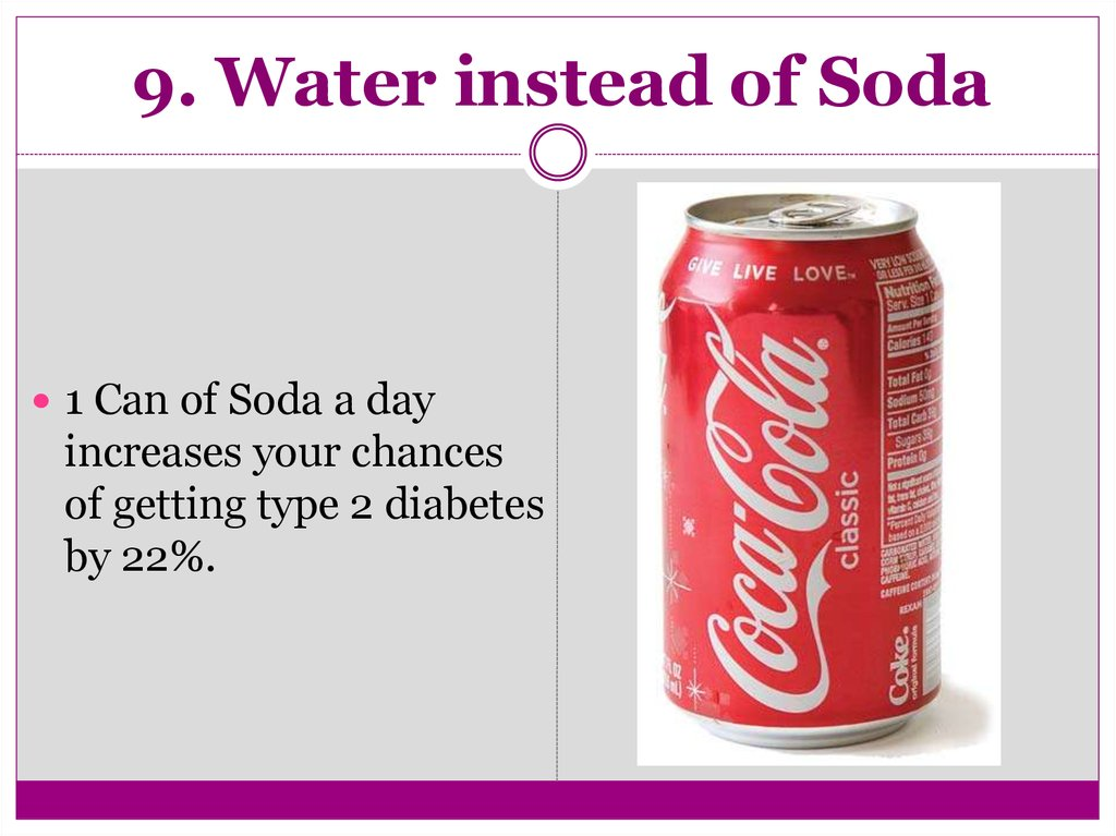 9. Water instead of Soda