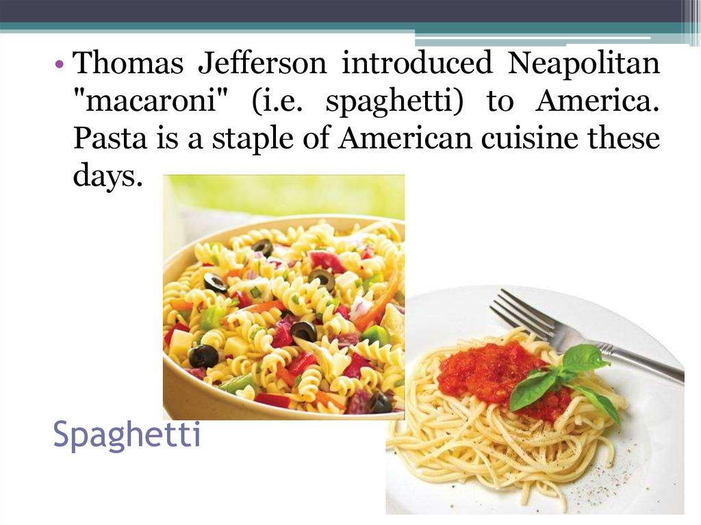 Classic american food online presentation for American cuisine presentation