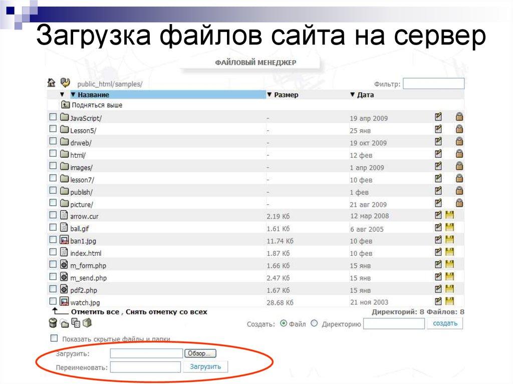 Регистрация и прогоны сайта
