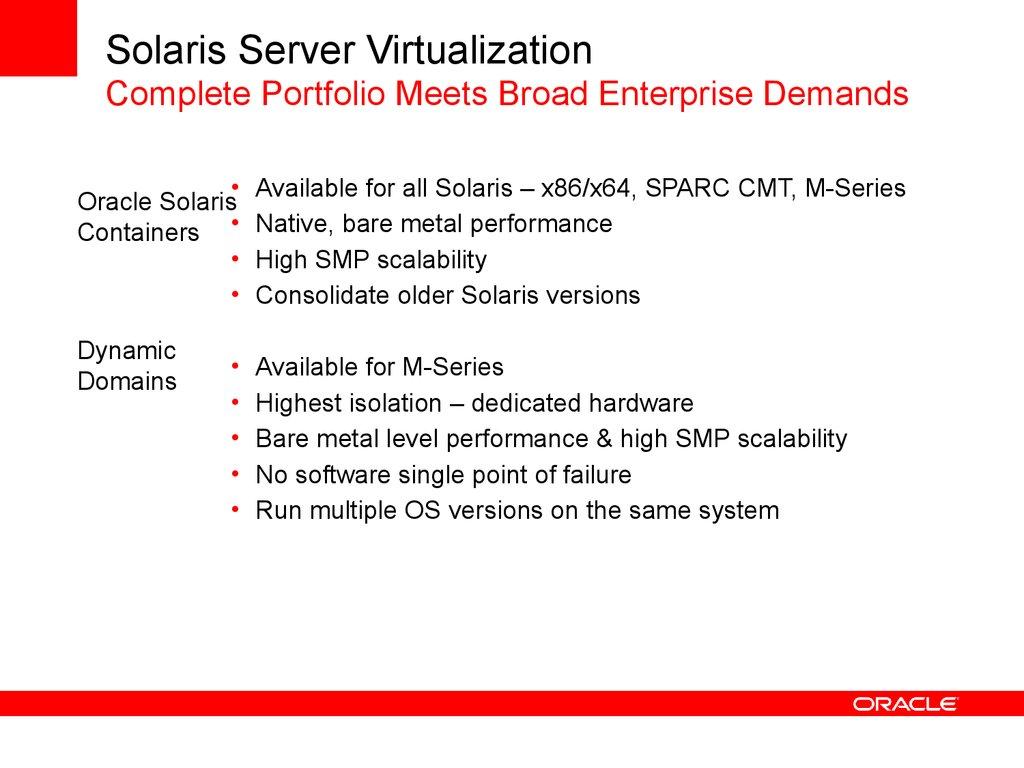Virtualization management strategy  Oracle - online presentation