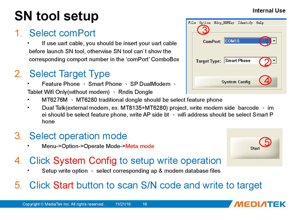 MediaTek  SN Tool Introduce 2014/03/07 - online presentation