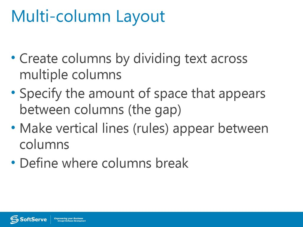 Multi-column Layout