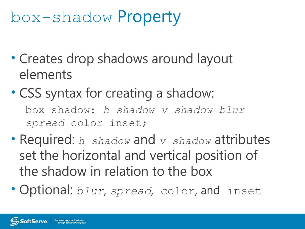 box-shadow Property