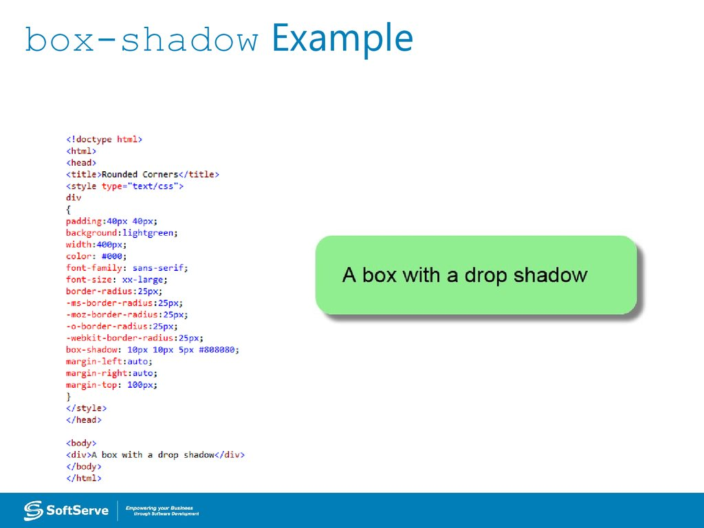 box-shadow Example
