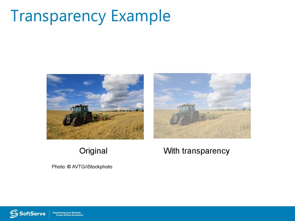Transparency Example