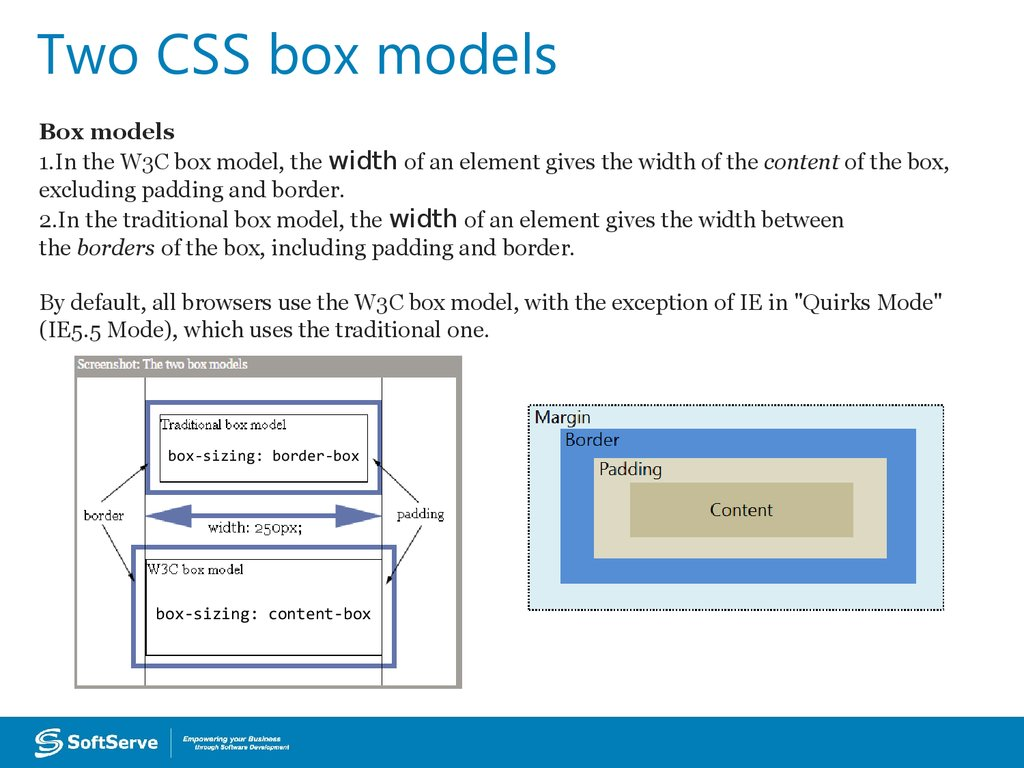 Two CSS box models