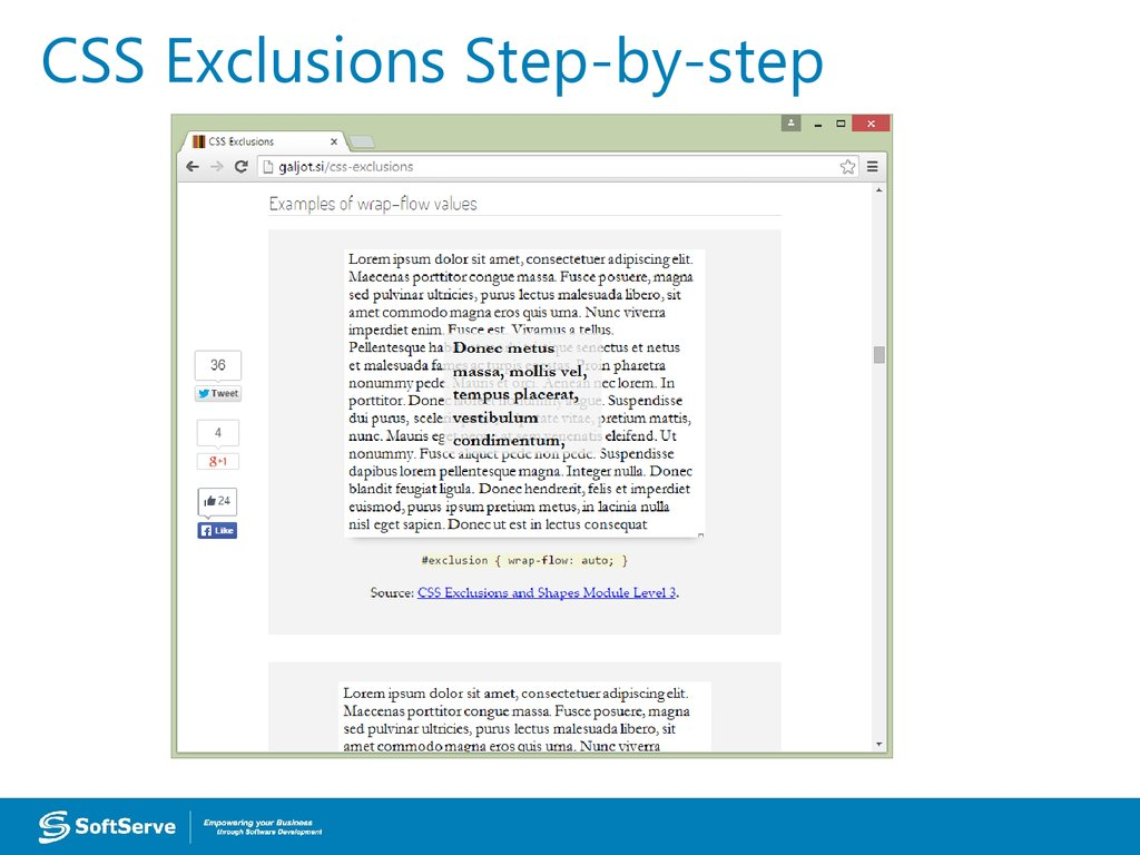 CSS Exclusions Step-by-step
