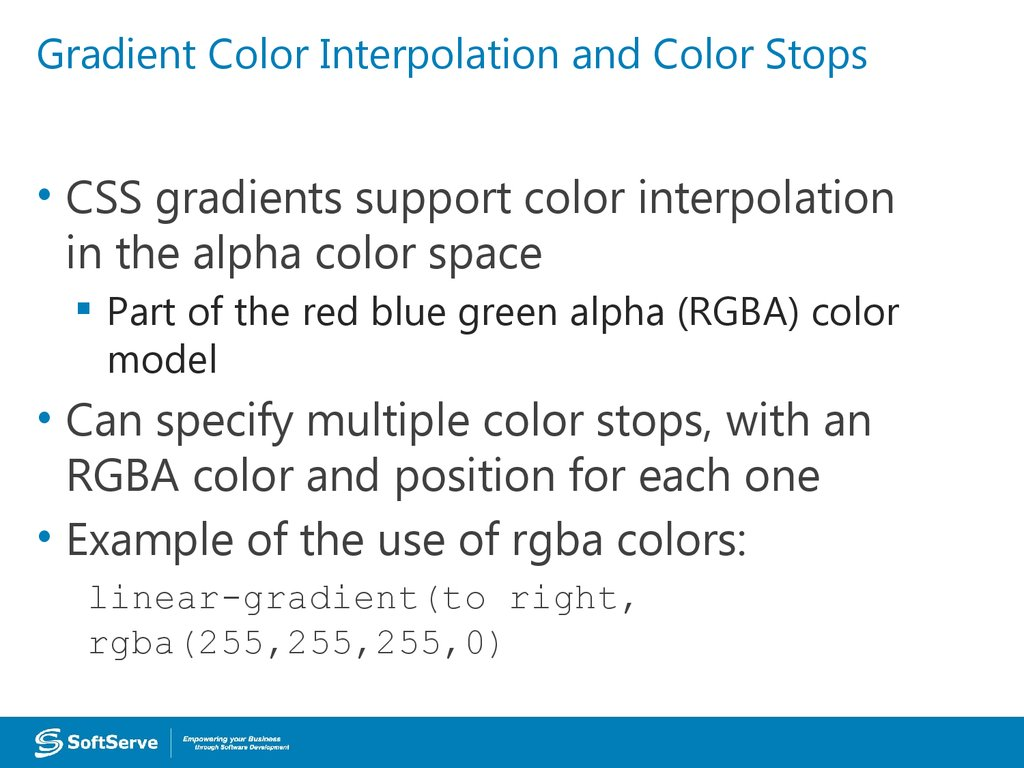 Gradient Color Interpolation and Color Stops