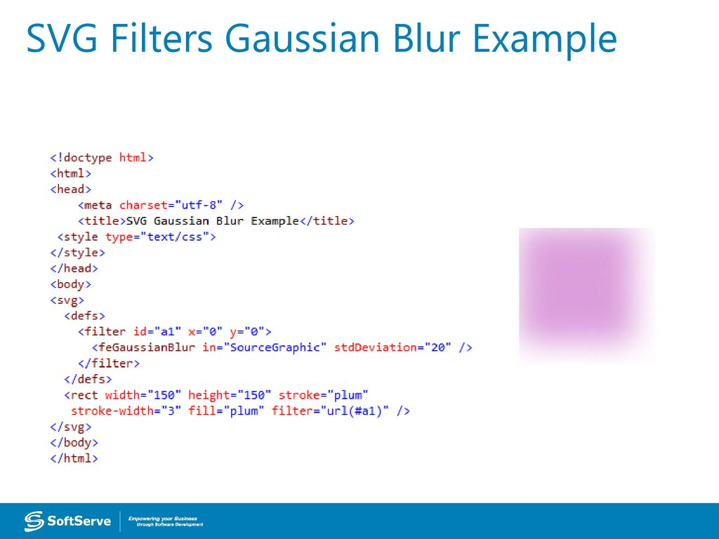 SVG Filters Gaussian Blur Example