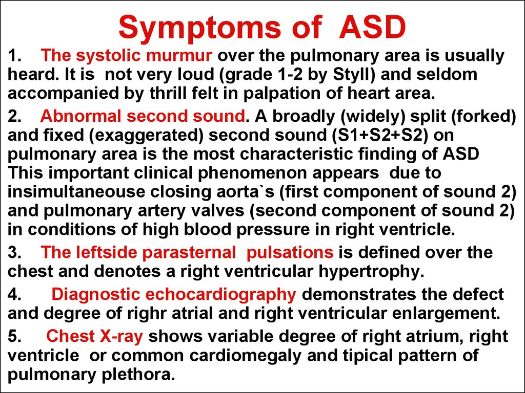Symptoms of ASD