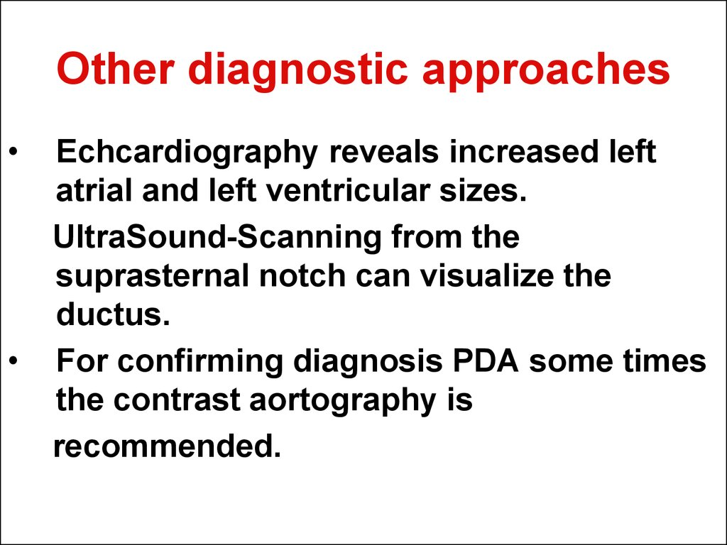 Other diagnostic approaches