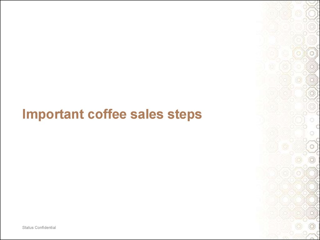 Important coffee sales steps
