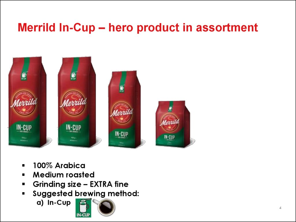Merrild In-Cup – hero product in assortment