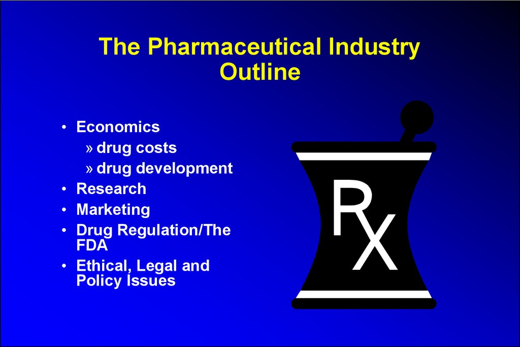 The Pharmaceutical Industry Outline