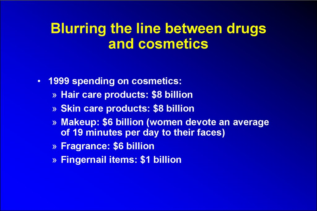 Blurring the line between drugs and cosmetics
