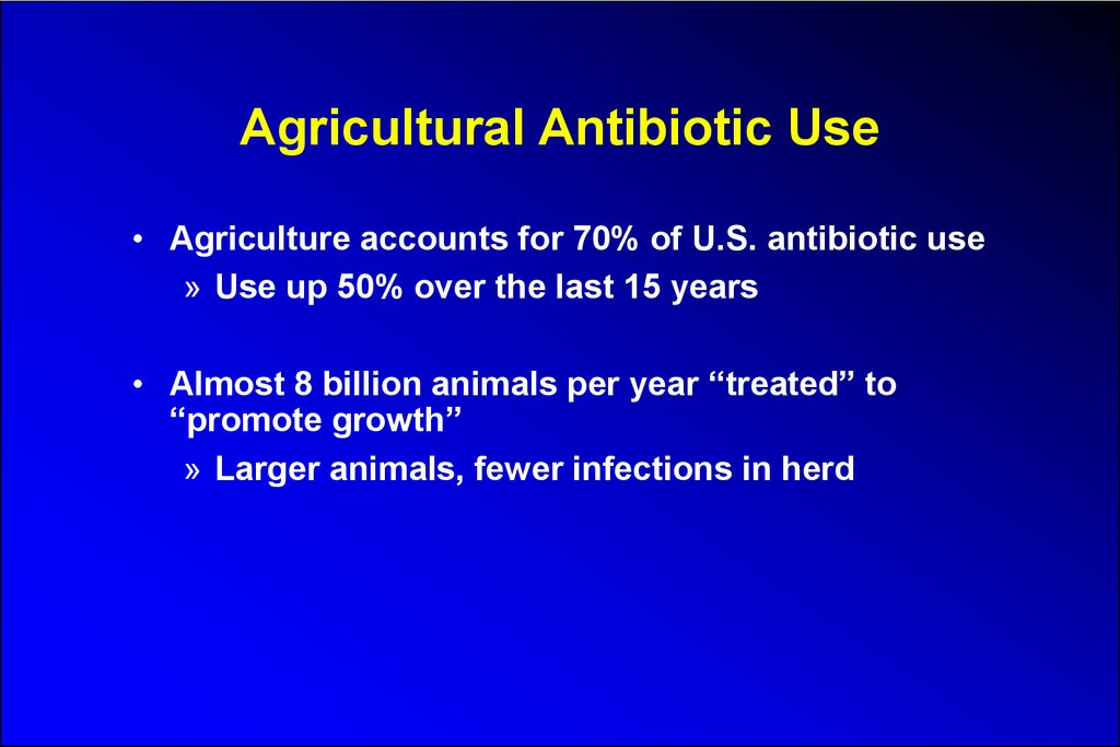 Agricultural Antibiotic Use