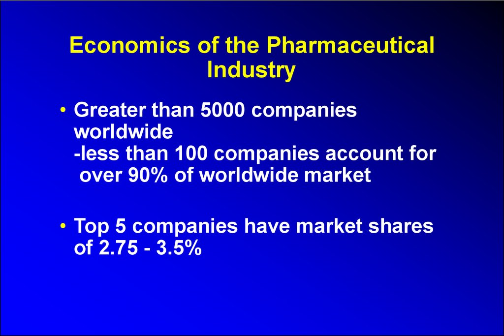 The pharmaceutical industry - online presentation