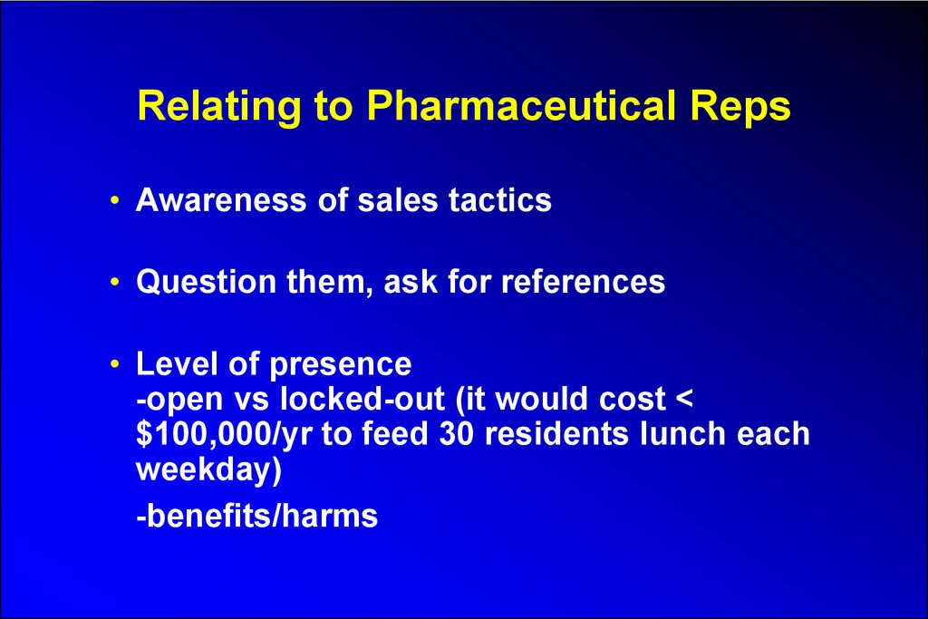 Relating to Pharmaceutical Reps