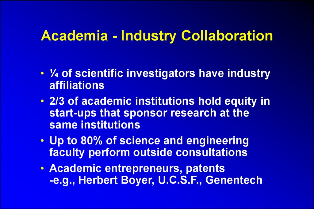 Academia - Industry Collaboration