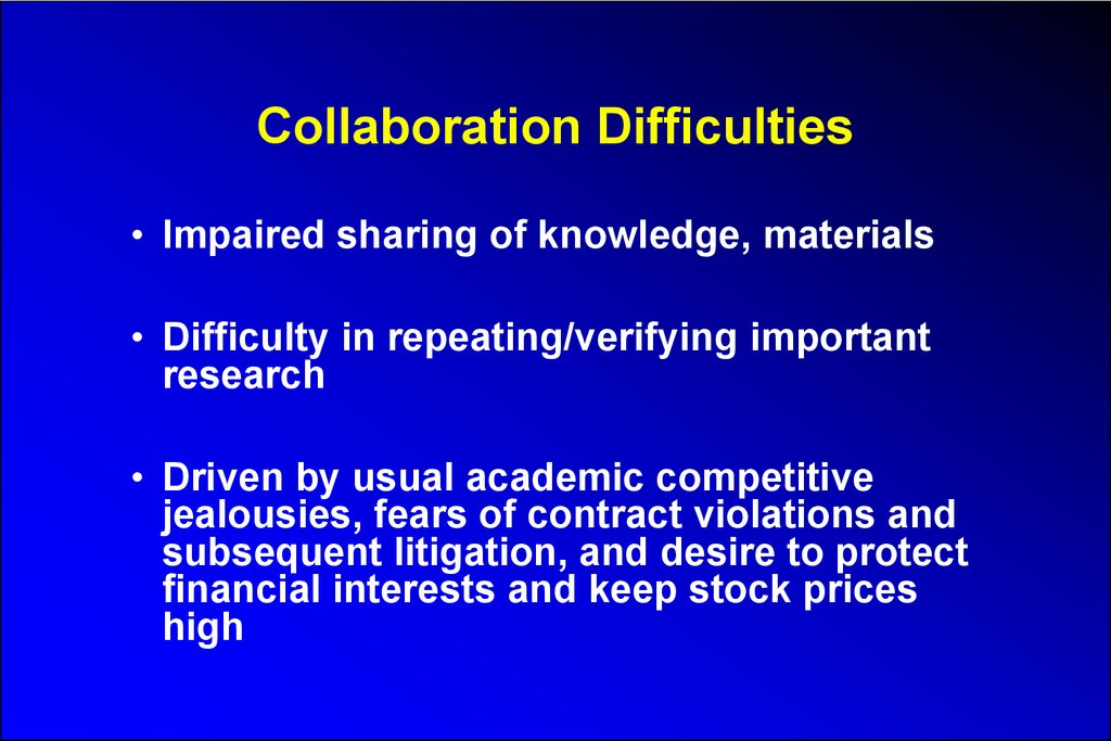 Collaboration Difficulties