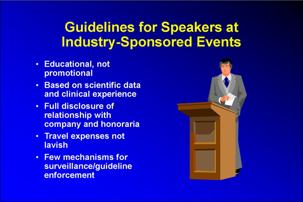 Guidelines for Speakers at Industry-Sponsored Events