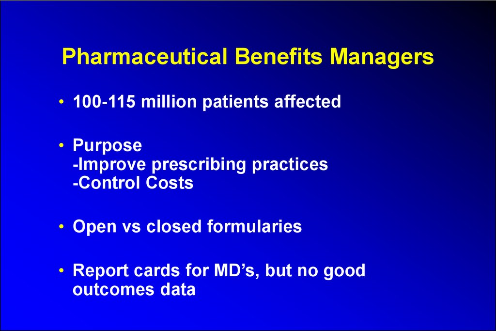 Pharmaceutical Benefits Managers
