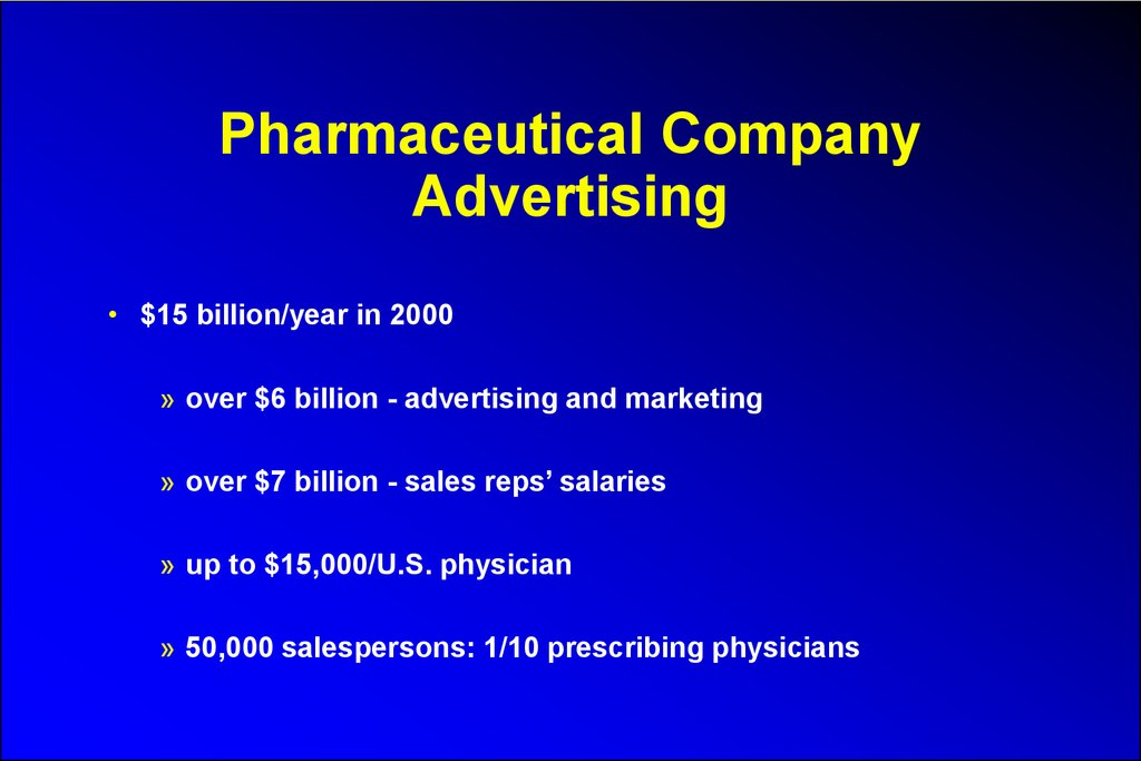 Pharmaceutical Company Advertising