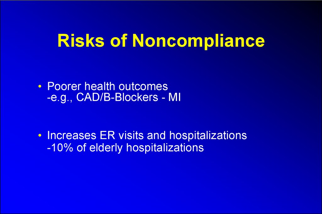 Risks of Noncompliance