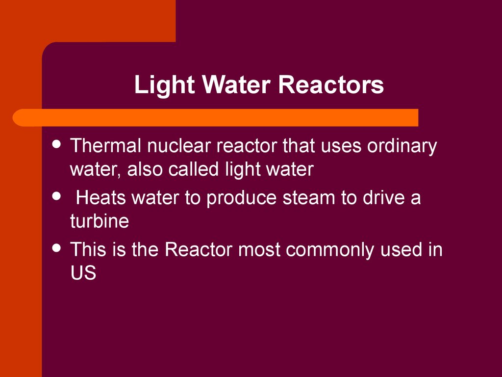 Light Water Reactors