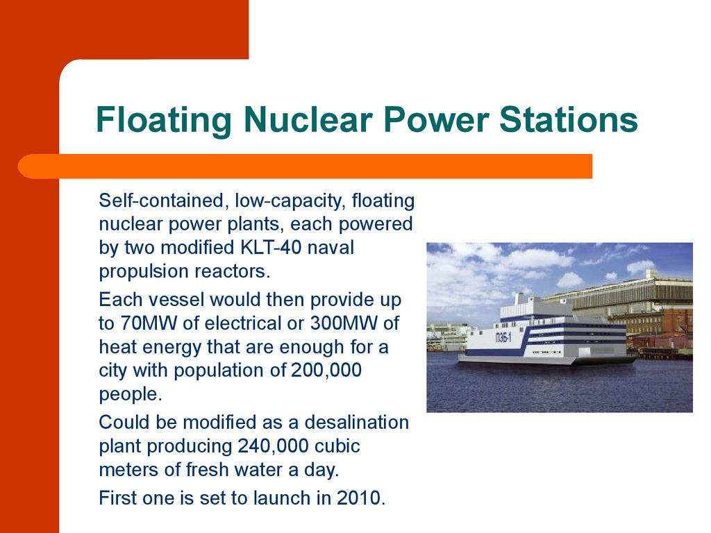 Floating Nuclear Power Stations