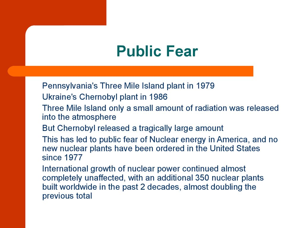 Nuclear Power Plants Principle Of Operation And Comparative Plant Diagram Ppt 3 Public Fear