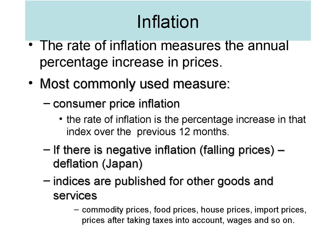 inflation can be measured by