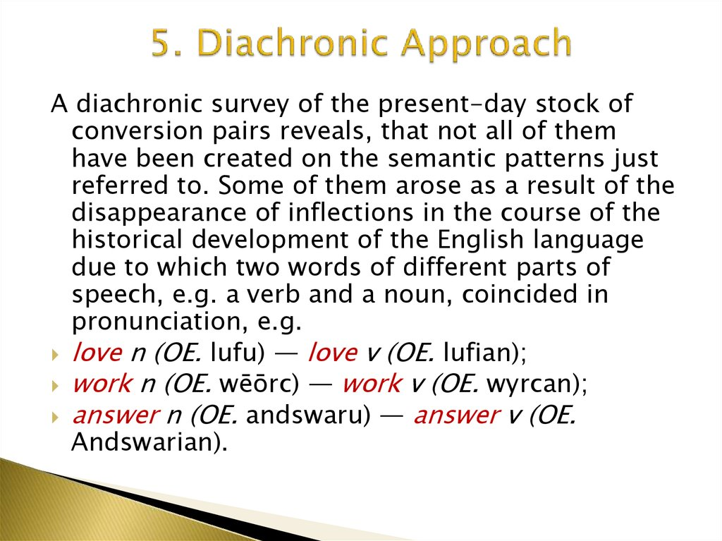5. Diachronic Approach