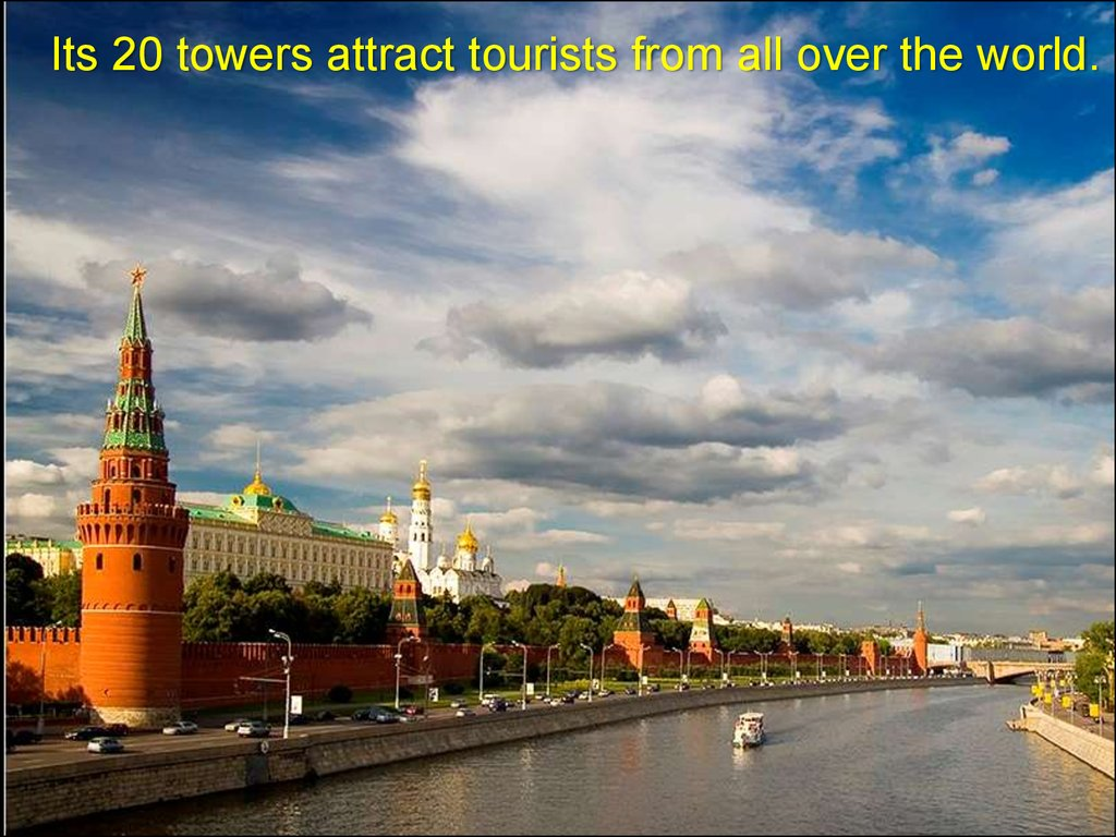 Its 20 towers attract tourists from all over the world.