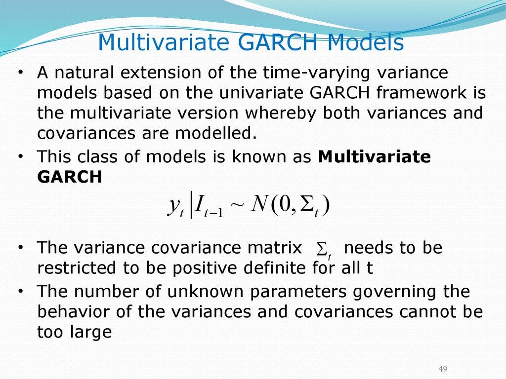 Modeling and forecasting  Volatility - online presentation