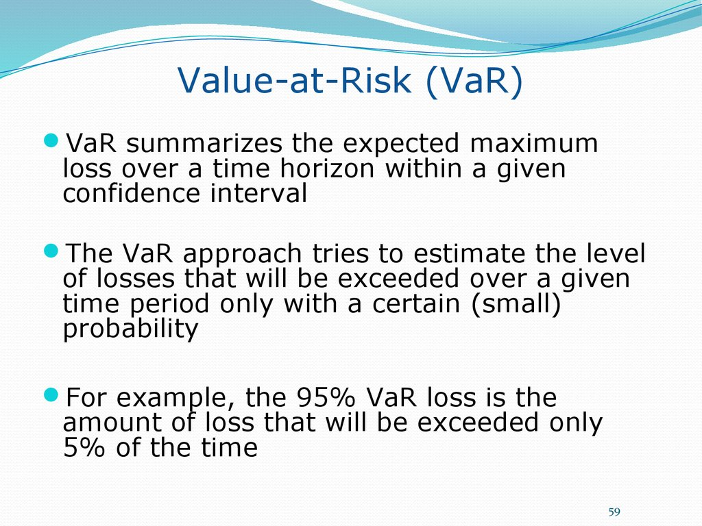 Value-at-Risk (VaR)