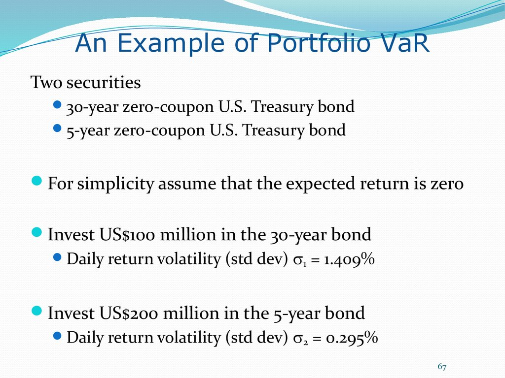 An Example of Portfolio VaR
