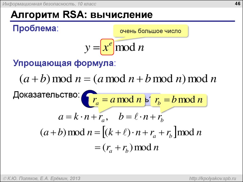 a explication of the rsa algorithm The rivest-shamir-adleman (rsa) algorithm is one of the most popular and secure public-key encryption methods any cryptographic technique which can resist a concerted attack is regarded as secure at this point in time, the rsa algorithm is considered secure.