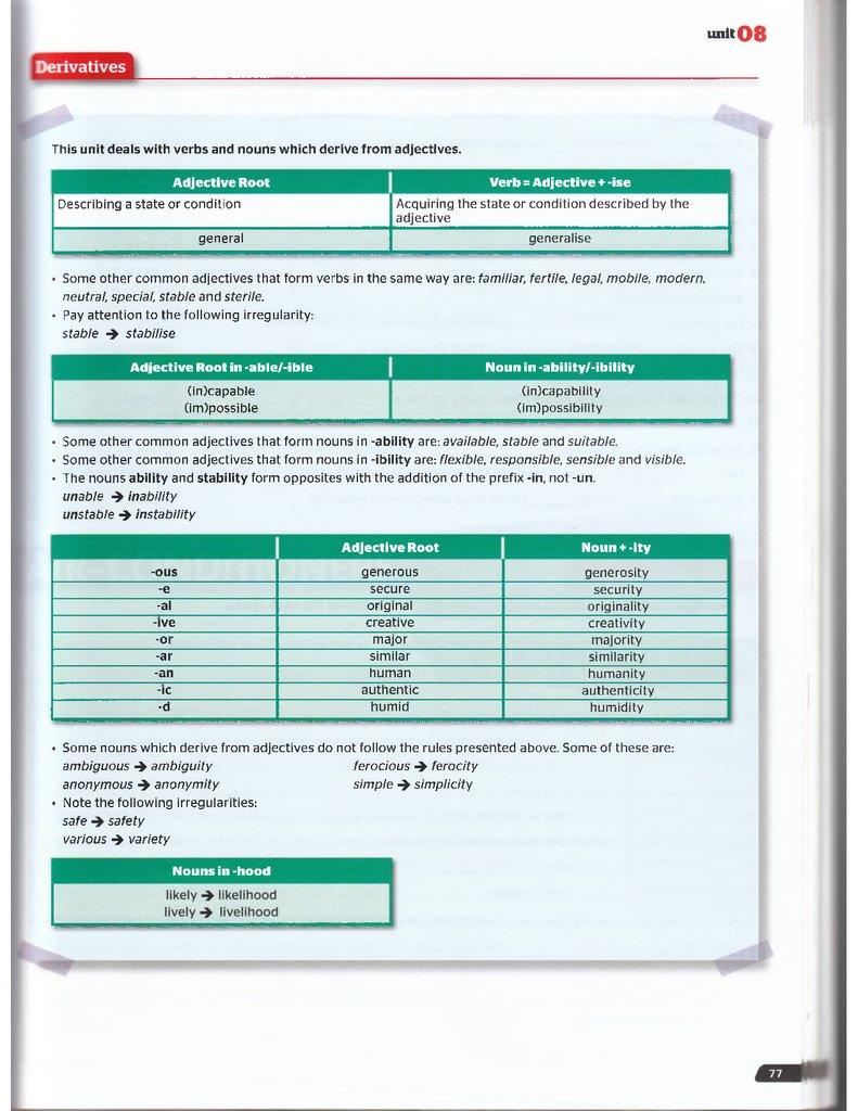 Use of English B2 for all exames TB OCR MCR - online presentation