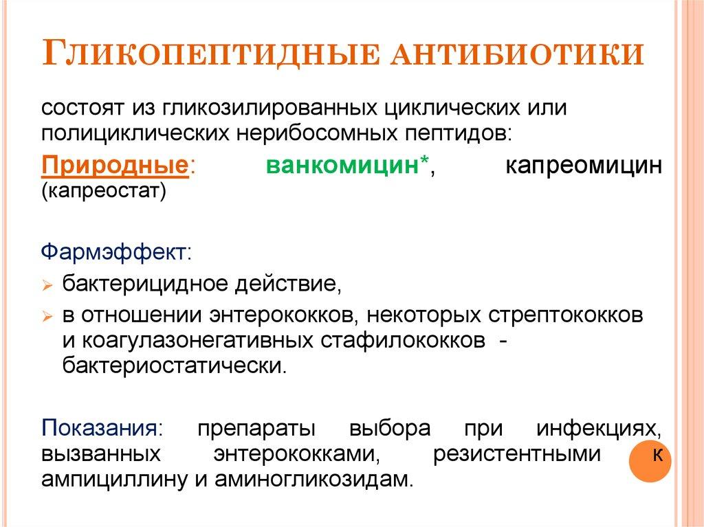 Гликопептиды антибиотики белоруссия стероиды