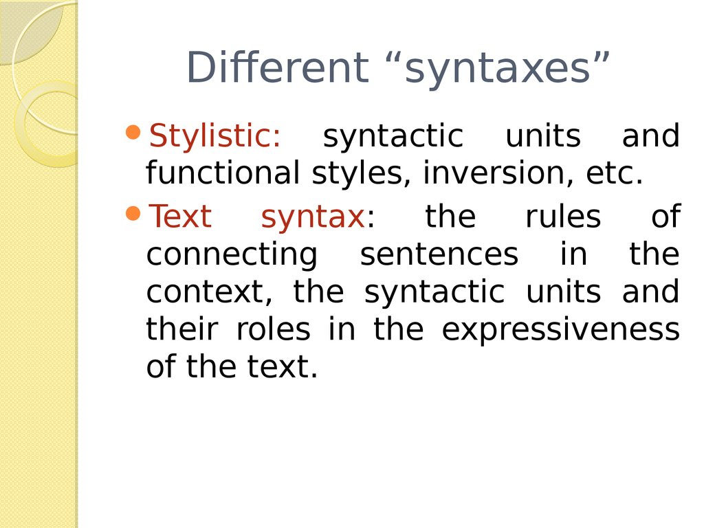 emma syntax and diction
