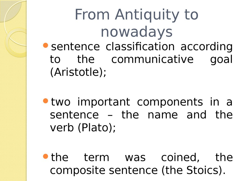 From Antiquity to nowadays